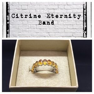 8.55 carat Citrine/Sterling complete eternity band